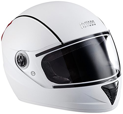 Studds Professional Full Face Helmet (White and Black, XL)