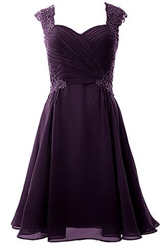 MACloth Women Cap Sleeve Cocktail Dress 2017 Short Wedding Party