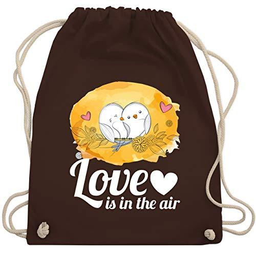 Valentinstag - Love is in the air Vögel - Unisize - Braun - WM110 - Turnbeutel & Gym Bag
