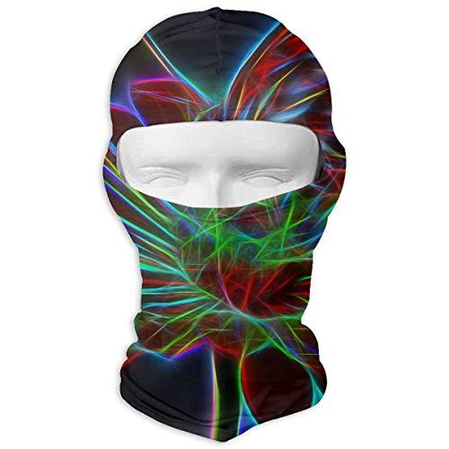 Preisvergleich Produktbild Wfispiy Neck Hood Full Face Mask Hat Sunscreen Breathable Quick Drying Flower Butterfly Light Effect Bright Men Women