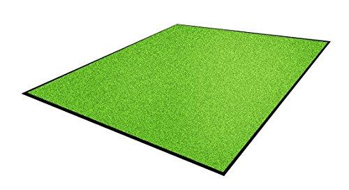 Andersen 1959247 Classic Impressions Solid Nylon Faser Innenraum Bodenmatte, Nitrilgummirücken, 830 g/sq. m, 75 cm Breite x 85 cm Länge, Reines Grün