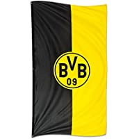 Borussia Dortmund BVB 34134400 Hissfahne 100x200cm im Hochformat, Schwarz/gelb, 100 x 200 x 1 cm
