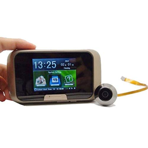 XGLL 2.8' LCD Mirilla Digital Timbre de Puerta 80 ° HD IR Cámara Vision Nocturna Tres Modos de Trabajo Opcionales Tomar Fotos/Grabar Videos Tarjeta TF para Seguridad de Hogar