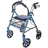 Ability Superstore Rollator Blue Jay, leicht mit 4Rädern, gepolstertem Sitz und Korb