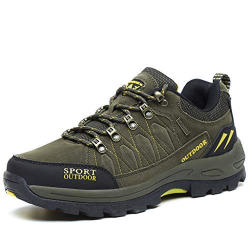 Lxjl scarpe da trekking da uomo antiscivolo sneakers da trekking stivali in pelle scamosciata impermeabile traspirante leggero scarpe trekking in esecuzione roccia arrampicata all'aperto,a,39