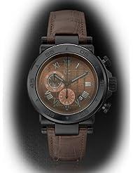 Guess X90003G4S - Reloj con correa de caucho para hombre, color marrón / gris