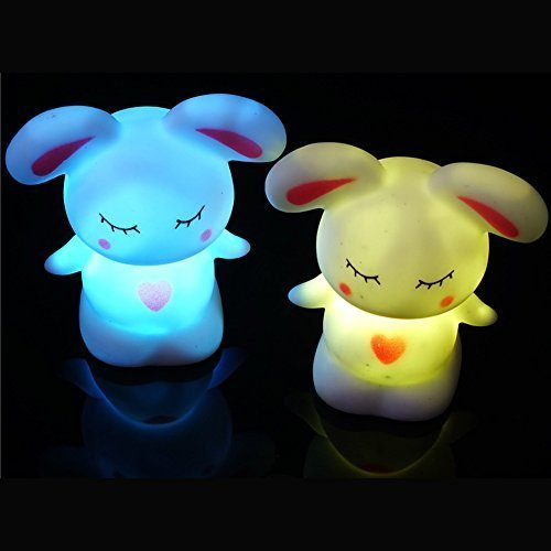 Licht LED Kaninchen Nachtlicht bis Spielzeug Party Baby Kids Room Dekoration colorful 6,9x 6,9cm (Taylor-swift-kostüm)