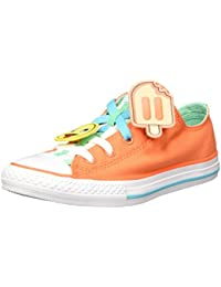 Converse Kids Children Shoes Chuck Taylor All Star Loopholes Ox Wild Mango Green Glow (orange)