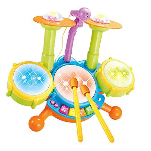 Schlagzeug-Set mit Mikrofon für Kinder und Kleinkinder ()