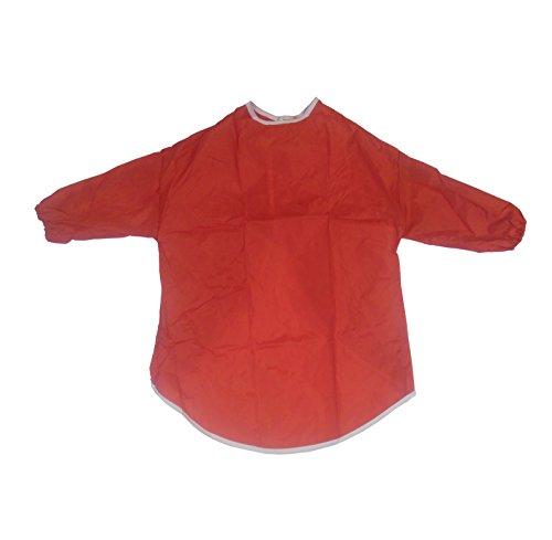 delantal-para-ninos-artes-y-manualidades-manga-medio-pintura-cocina-2-4-anos-rojo