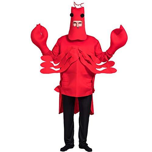 SHANGLY Halloween Kostüm roter Hummer Cosplay Kostüm Familien Urlaub Karneval Stage Performance Kleidung,Red