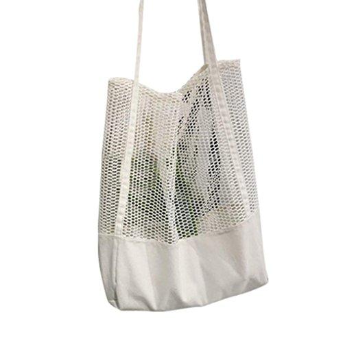 ESAILQ Filles Casual Mode Sac shopping épaule Creux de maillage Shopper Sac de plage Sacs de courses