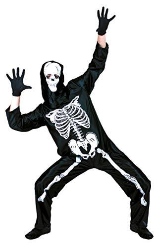 Karneval-Klamotten Skelett Kostüm Herren Overall mit Aufdruck Horror-Kostüm Größe (Skelett Kostüm Für Herren)