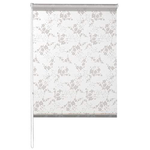 casa pura® Fashion Rollo Anastasia | Blickdicht & lichtdurchlässig | Klemmrollo für Fenster, auch ohne Bohren anbringbar | 9 Größen (110x150cm)