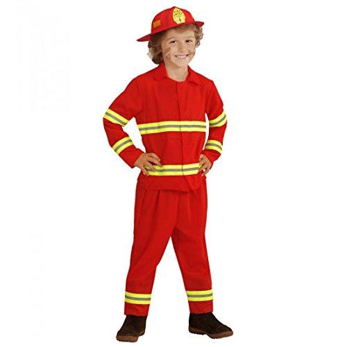 widmann-wdm03934-costume-per-bambini-pompiere-104-cm-2-3-anni-multicolore-xxxxs