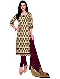 673d9bb122 Ganpati Unstitched Pure Cotton Salwar Suit Material/Churidar Suit for  Women(DSM-9025