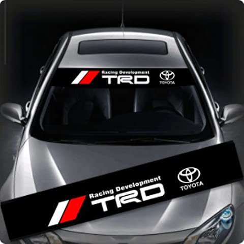 'Racing Development TRD Toyota Logo + 130 cm Sticker Fade Strip Car And ESTREL Lina Mounting Squeegee 10/ESTREL Congratulation's Decal Sticker 10 Printed Instructions from Myrockshirt, Shipping from Germany Within 48 Hours, A Sturdy Cardboard Car Washes Professional Quality Sticker, Tuning,