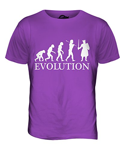 CandyMix Monarca König Evolution Des Menschen Herren T Shirt Violett