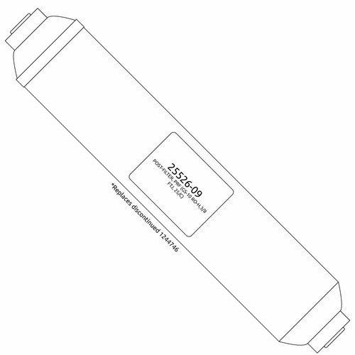 Ersatz Carbon Post Filter (Ersatz Carbon Post Filter für GE Merlin RO System)