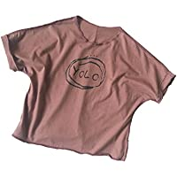 ZZ La Camiseta de Manga Corta de los Niños del Algodón de la Impresión de la Moda de la Camisa de los Niños del Verano,Púrpura,90cm