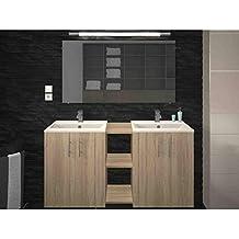 Amazon Fr Meuble Salle De Bains Double Vasque 120