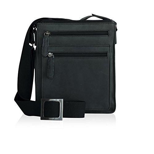 Herren 8in Leder (EINZIGARTIGE Handwerkskunst, hochwertige, UNISEX, Geschäftstasche, Notebook Tasche 8-9
