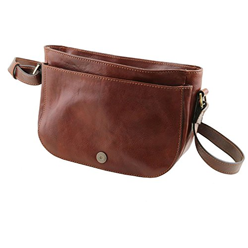 Tuscany Leather Rachele - Sac bandoulière en cuir - TL141482 (Marron) Rouge