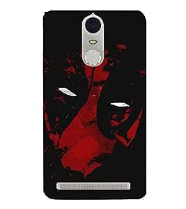 Takkloo warrior ( super hero, red mask, man with super power) Printed Designer Back Case Cover for Lenovo K5 Note :: Lenovo Vibe K5 Note Pro