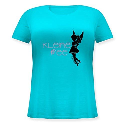 Statement Shirts - Kleine Fee - Lockeres Damen-Shirt in großen Größen mit Rundhalsausschnitt Türkis
