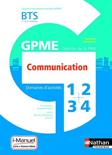 Domaine d'activité 1, 2, 3 et 4 - Communication