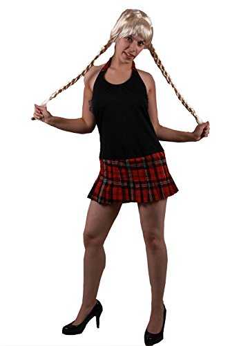 Heißes Schulmädchen Outfit * Minikleid im Karo Look -