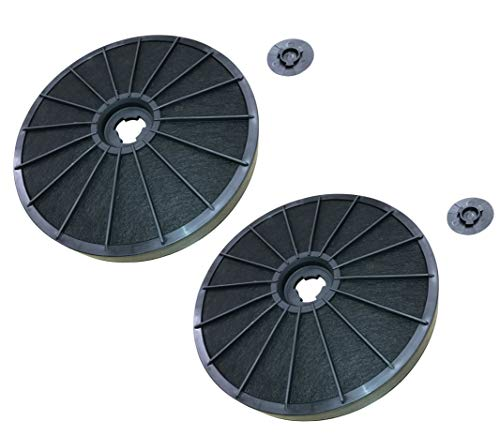 DREHFLEX - 2er Pack - AK14-2 - Kohlefilter/Aktivkohlefilter für diverse Dunstabzugshauben z.B. für AEG/Electrolux 9029793776/902979377-6 EFF54 E3CFF54 oder Bauknecht/Whirlpool 481281718521 FAC509 F233