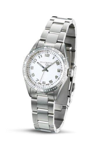 Philip Watch R8253107945 - Reloj analógico de cuarzo para mujer, correa de acero inoxidable color plateado