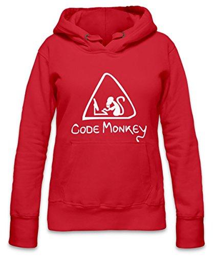 Code Monkey Womens Hoodie X-Large