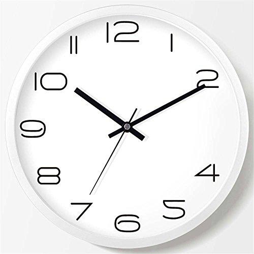 WALL CLOCK WERLM Salon élégant Horloge Murale Horloge Creative Chambre Salon Chambre à Coucher Horloge Murale Mute Horloge Murale Horloge Quartz Blanc, devrait être de 20 cm