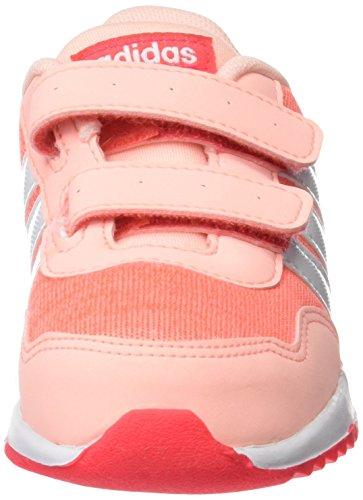 adidas Unisex-Kinder V Jog Cmf Inf Sneakers Pink (Corneb/ftwbla/rojimp)