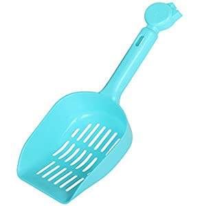 DIGIFLEX blaue Schaufel fürs Katzenklo einfache sauberes Aufräumen der Häufchen Ihres Vierbeiners kompakt Kunststoff