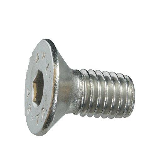 5 Senkkopfschrauben Edelstahl M8 x 16 mm – ISO 10642 / DIN 7991 – Senkschrauben mit Innensechskant und Vollgewinde – Werkstoff A2 (VA / V2A)