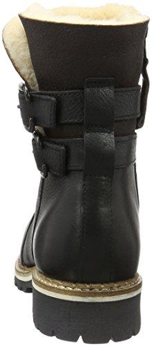 Shepherd Damen Smilla Outdoor Biker Boots Schwarz (BLACK 10)
