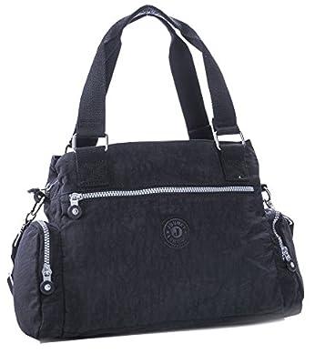 Big Handbag Shop Rainproof Fabric Lightweight Multi Compartment Baby Shoulder Bag - Medium