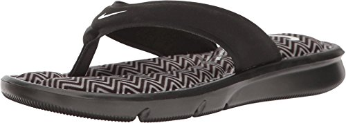 NIKE Women's Ultra Comfort Thong Print (10 B(M) US, Black/White) Nike Womens Thongs