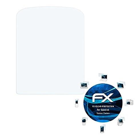 Sandisk Sansa Fuze+ Schutzfolie - 3 x atFoliX FX-Clear kristallklare Folie Displayschutzfolie
