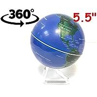 "babygiraffe 5.5"" 14cm Self Rotating Swivel Globe World Map Educational Toy Table Desk Decor"