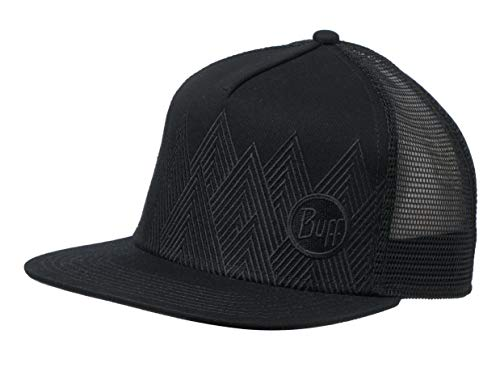 Buff Erwachsene Trucker Cap, Summit Black, One Size Front-mesh Back Cap