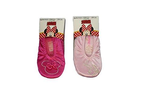 Disney Minnie Mousse Ballerines Chaussons 32843994 Lot de 2