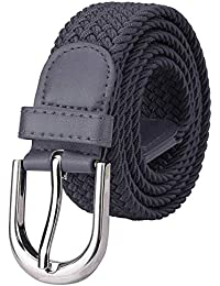a0abd748 ZORO Stretchable braided cotton belt for women, ladies grey, steel blue and  purple color