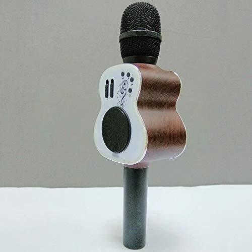 GL-Musical instrument Kabelloses Bluetooth-Karaoke-Mikrofon, tragbares 3-in-1-Karaoke-System mit Zwei eingebauten Lautsprechern für Home KTV.Work mit iPhone Android, PC und All Smartphone - 3-wege-handbuch
