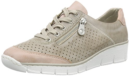 Rieker Damen 53725 Oxfords, Grau (rose/steel/32), 39 EU