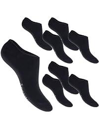 4 oder 8 Paar Footstar Antirutsch-Füßlinge - Socken Sneaker - Silikonstreifen an Ferse - Footies für Damen und Herren - Qualität von celodoro