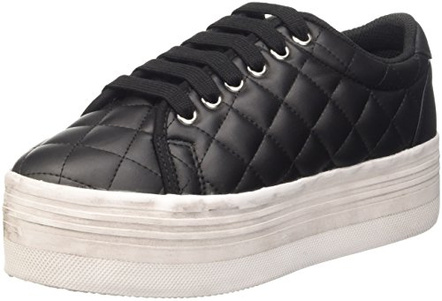 Jeffrey Campbell Zomg Black and White - Sneaker Donna, Nero/Bianco, 37